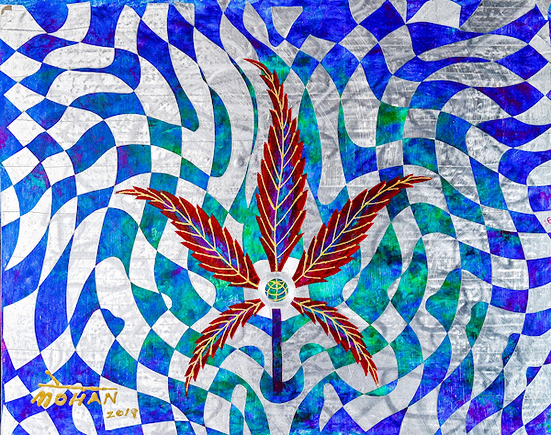 """Die Arbeiten des """"Cannabis Artist"""" wurden u. a. im """"High Times Magazine"""" publiziert."""
