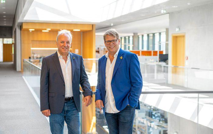 Markus Storz (links) und Jürgen Bickel haben gut lachen, feiern sie doch mittlerweile ihr 20-jähriges Firmenjubiläum.